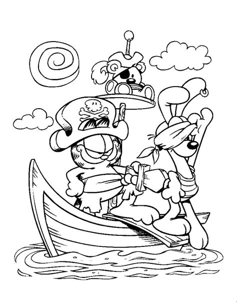 garfield coloring pages coloringpages1001 com