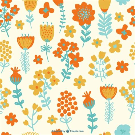 pattern flower vector free download seamless flowers pattern vector free download