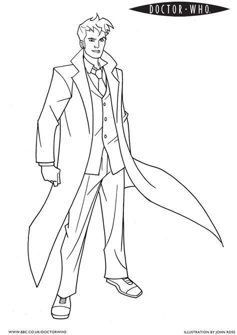 coloring page of a doctor doctor who colouring pages thanks doctor who makes