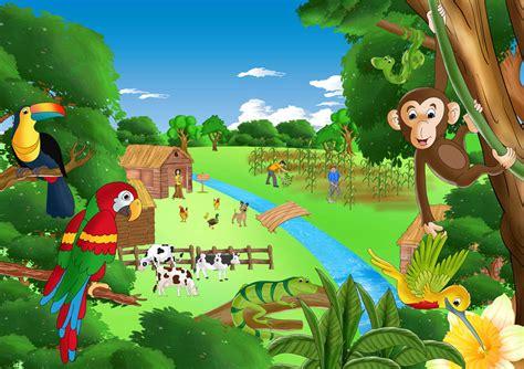 dibujos infantiles con animales flores y plantas en el rincon de mis imagenes paisajes infantiles