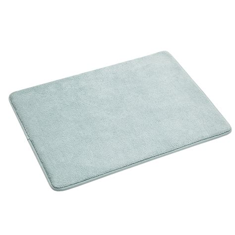 memory foam bath rugs shop allen roth 17 in x 24 in teal microfiber memory foam bath mat at lowes