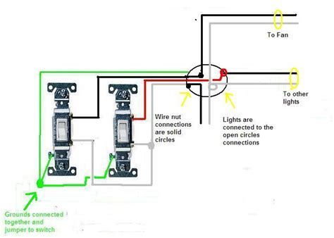 i 2 switches both are slide dimmers 1 is for a fan