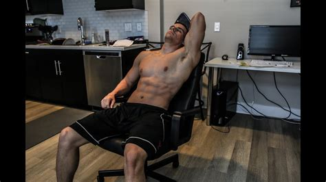 ultimate office chair ab workout  excuses brendan