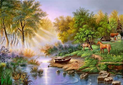 bob ross painting nature s paradise لوحات فنية مبهرة للطبيعة روعة الفن ورسومات الطبيعة مجتمع