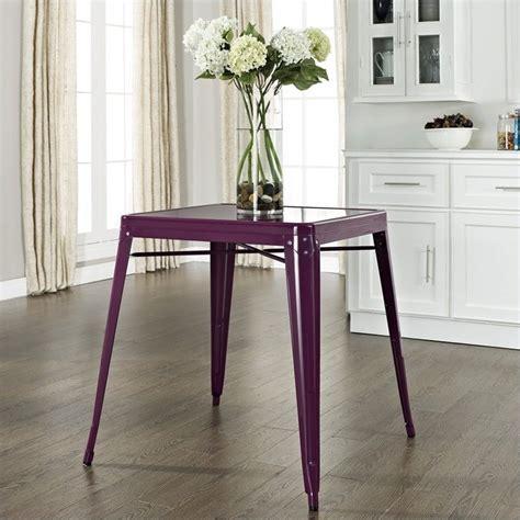 metal cafe dining table in purple cf220130 pr