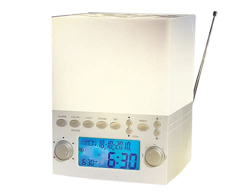 clock radio with light colour alarm clocks