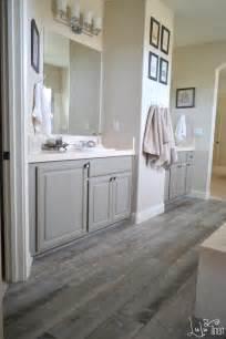 master bathroom redo goodbye carpet hello tile lulu how to mix wood furniture finishes