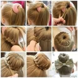 hairstyles using a bun donut s 220 nger topuz tokasi ile k 220 199 220 k kizlara 214 rg 220 l 220 sa 199 modeli