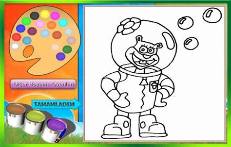 spongebob coloring pages free games spongebob games free kids games online kidonlinegame com