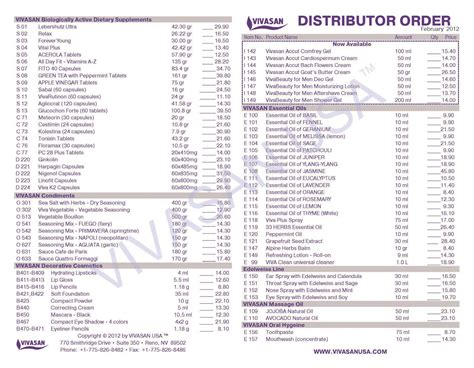 distributor price list template price lists