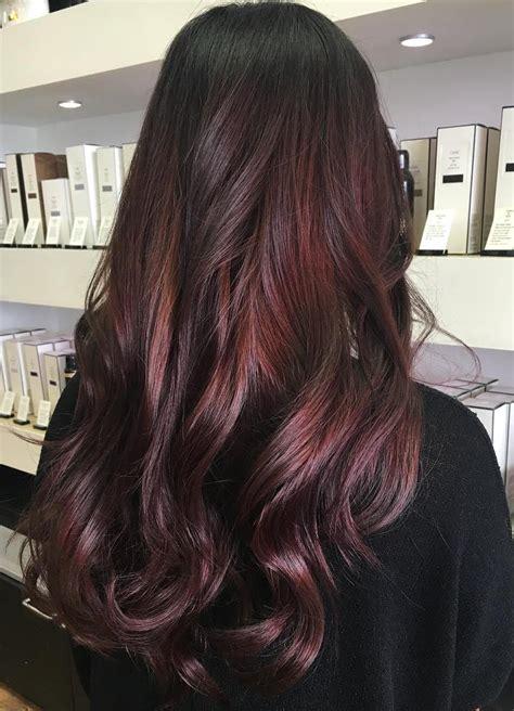 hairstyles dark with red highlights 45 shades of burgundy hair dark burgundy maroon