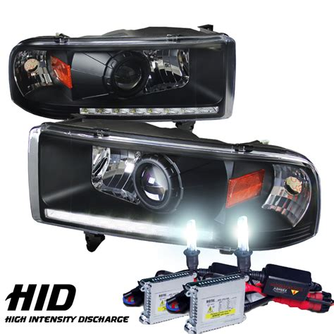 hid headlights dodge ram 2500 hid xenon 94 01 dodge ram 1500 2500 3500 drl led