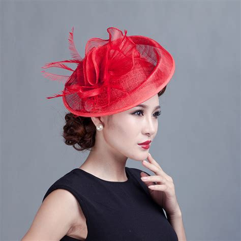 derby church sinamay fascinator hat veil headband