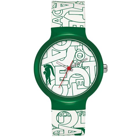 lacoste unisex goa white and green silicone 40mm 2020066 in green for white lyst