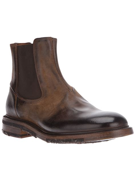 chealsea boots silvano sassetti chelsea boot in brown for lyst