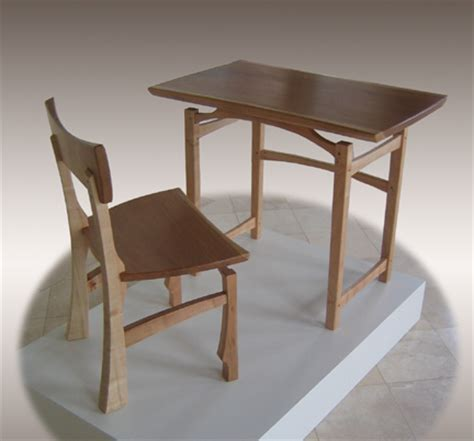 table n chairs hicks woodworking 187 writing table and chair