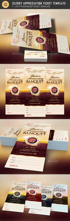 clergy card template pastor anniversary gala ticket template is an