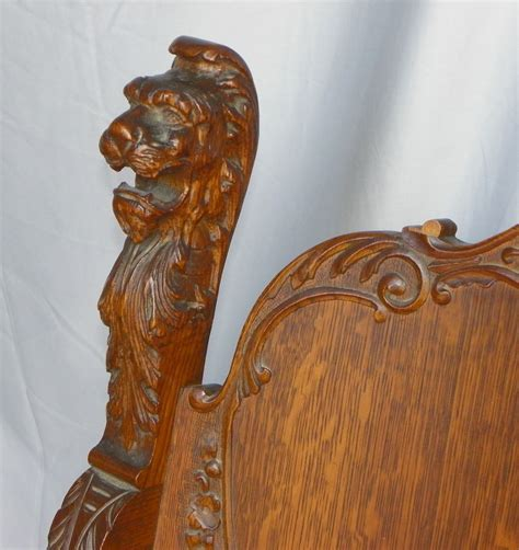 Bargain John's Antiques » Blog Archive Antique Lion Head Oak Throne Chair   Bargain John's Antiques