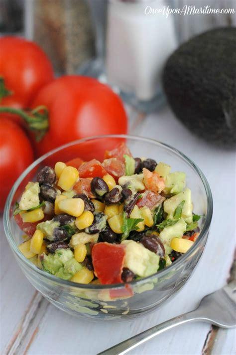 Fast Easy Dinner Black Bean Cobb Salad by Southwest Black Bean And Avocado Salad Easy