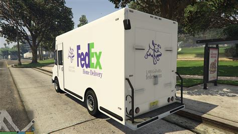 fedex home delivery boxville skin gta5 mods