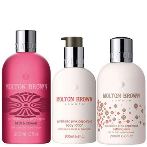 Molton Brown Pepper Shower Gel by Molton Brown Pink Pepperpod Trio Shower Gel Lotion