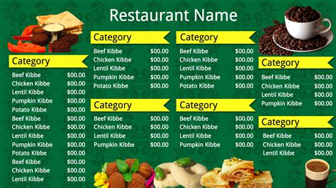 fast food restaurant menu templates indian fast food
