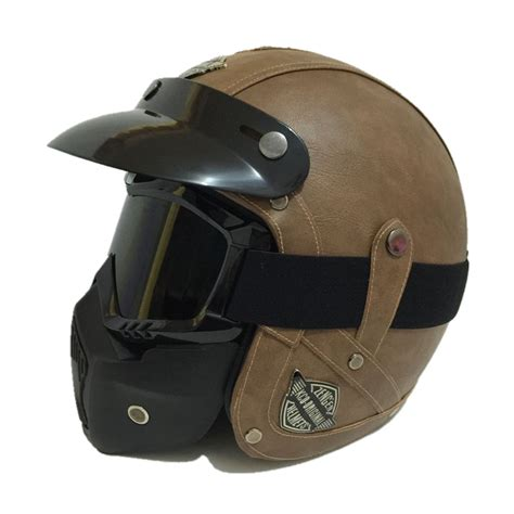 leather motorcycle helmet vintage leather motorcycle helmet retro harley style