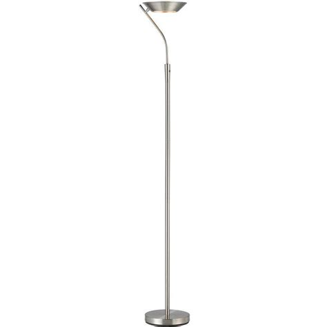 Led Torchiere Floor L Cal Lighting 70 In Black Metal Torchiere With Glass Shade Bo 213 Bk The Home Depot