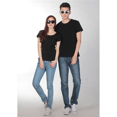Tshirt Kaos Baju U Hitam 2 kaos polos katun wanita u neck size s 81301 t shirt black jakartanotebook