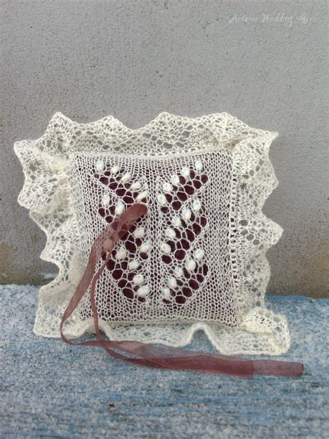 two of the valley lace ring bearer pillows artanis