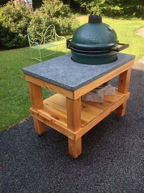 plans for large green egg table big green egg table plans large big green egg cedar
