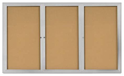 swinging cork 6 x 4 cork board w swinging doors acrylic