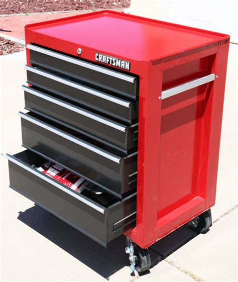 Tool Cabinet Sears by Sears Craftsman 5 Drawer Rollaway Tool Chest With Heavy