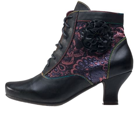 laura vita candice  womens ankle boots  black
