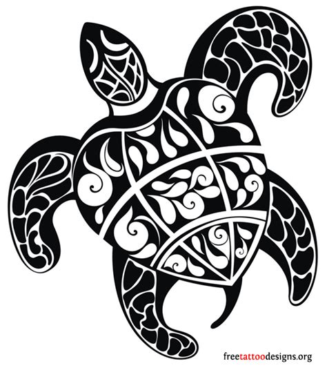 hawaiian tribal turtle tattoo for shoulder real photo