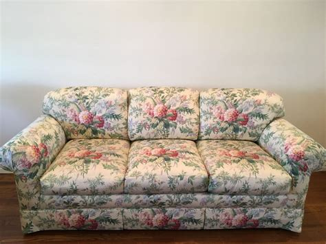 chintz sofa retro furniture trends throughout the ages estate sale blog