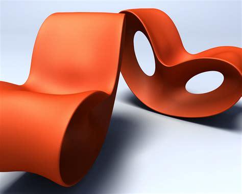 Ultra Modern Home Design Voido Rocking Chair Orange By Magis