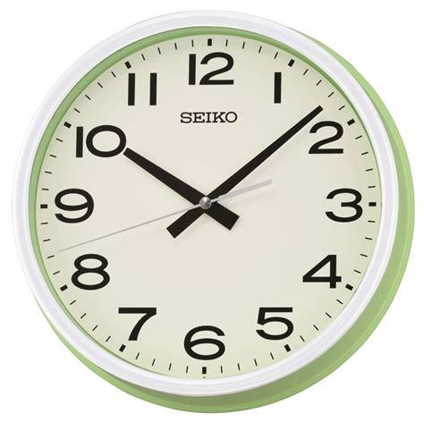 deep extra large wall clock ridgeway colourful deep dish green white seiko wall clock