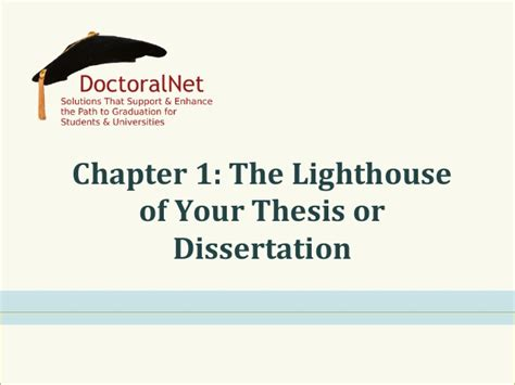 how to write chapter 1 of a dissertation chapter 1 the lighthouse of your thesis dissertation