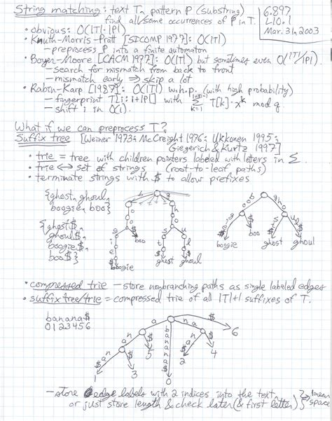 pattern recognition handwritten notes lecture 10 page 1 at 200 dpi 6 897 advanced data