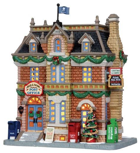 lighted christmas village sets lemax hillside post office 25372 miniature christmas