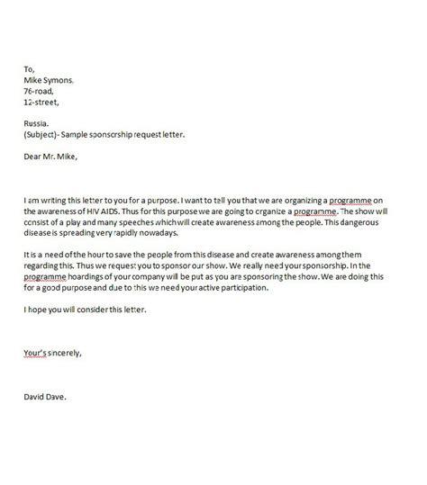41 free sponsorship letter sponsorship proposal