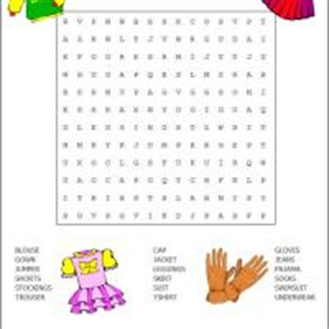 Free Clothing Search 28 Printable Word Search About Clothes 7 Easter Word Searches Printable