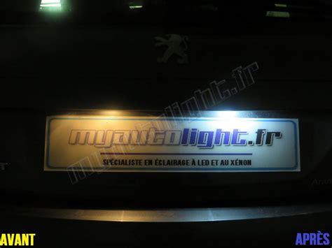 Eclairage Plaque by Eclairage De Plaque 224 Led Pour Peugeot 1007