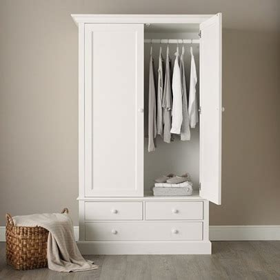 White Wardrobe - classic large wardrobe bedroom furniture the white
