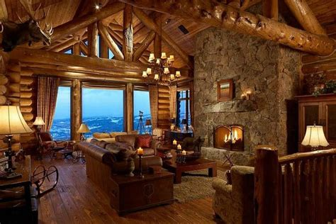 beautiful log home interiors beautiful log cabin for the home pinterest