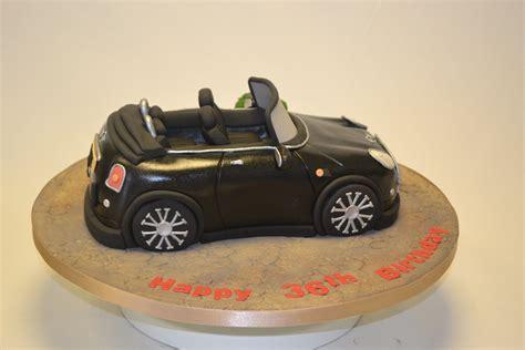 convertible mini cooper car cake adult birthday cakes