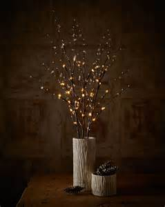add autumn glow to your home with lighted branches