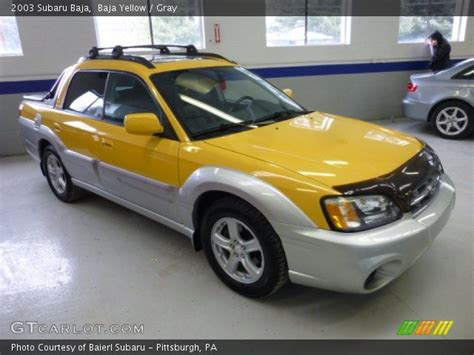 yellow subaru baja baja yellow 2003 subaru baja gray interior gtcarlot