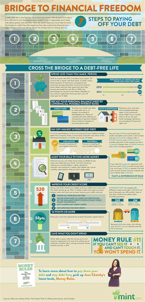 the infographic guide to personal finance a visual reference for everything you need to books the bridge to financial freedom a visual guide to paying